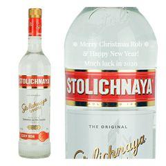 Personalised Stolichnaya Red Vodka