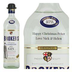 Personalised Broker's Gin