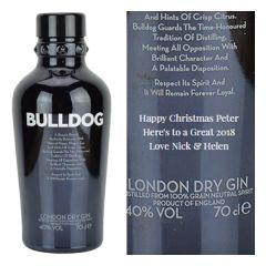 Personalised Bulldog London Dry Gin
