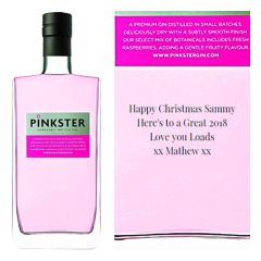 Personalised Pinkster Gin