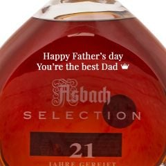 Personalised Asbach Selection Brandy 21 Year Old