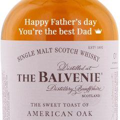 Personalised Balvenie American Oak 12 Year Old