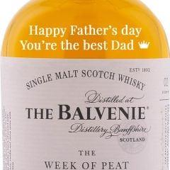 Personalised Balvenie Week of Peat 14 Year Old