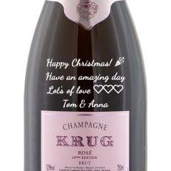 Personalised Krug Rose