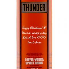 Personalised Thunder Toffee Vodka