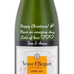 Personalised Veuve Clicquot Demi Sec NV
