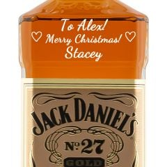 Personalised Jack Daniels No. 27 Gold