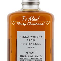 Personalised Nikka Whisky From The Barrel