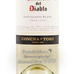 Personalised Casillero Del Diablo Sauvignon Blanc