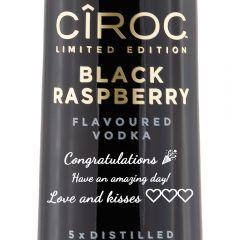 Personalised Ciroc Black Raspberry
