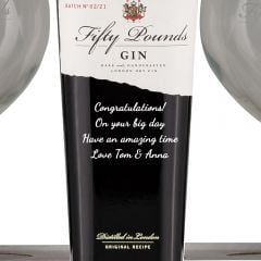 Personalised Fifty Pound Gin Gift Pack