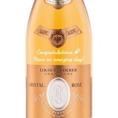Personalised Louis Roederer Cristal Rose