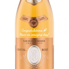 Personalised Louis Roederer Cristal Rose Champagne Magnum 150cl