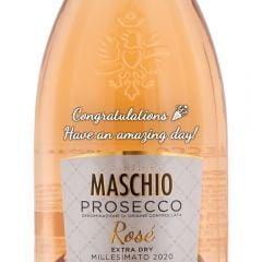 Personalised Maschio Rose Prosecco