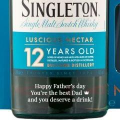 Personalised Singleton of Dufftown 12 Year Old 2 Glass Set