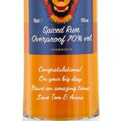 Personalised Soul Fire Overproof Spiced Rum