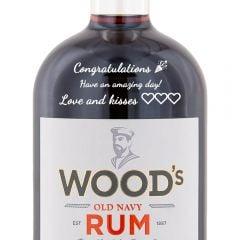 Personalised Woods 100 Navy Rum