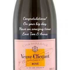 Personalised Veuve Clicquot Rose NV Champagne Magnum