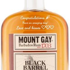Personalised Mount Gay Black Barrel Double Cask Blend