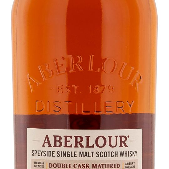 Personalised Aberlour 12 Year Old Double Cask 70cl Engraved Whisky engraved bottle