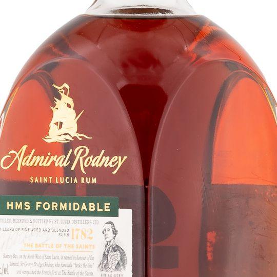 Personalised Admiral Rodney HMS Formidable 70cl Engraved Dark Rum engraved bottle