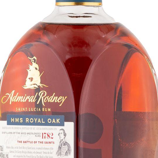 Personalised Admiral Rodney HMS Royal Oak 70cl Engraved Spiced Rum engraved bottle