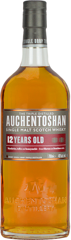 Personalised Auchentoshan 12 Year Old Whisky 70cl engraved bottle