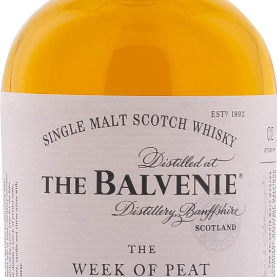 Personalised Balvenie Week of Peat 14 Year Old 70cl Engraved Whisky engraved bottle