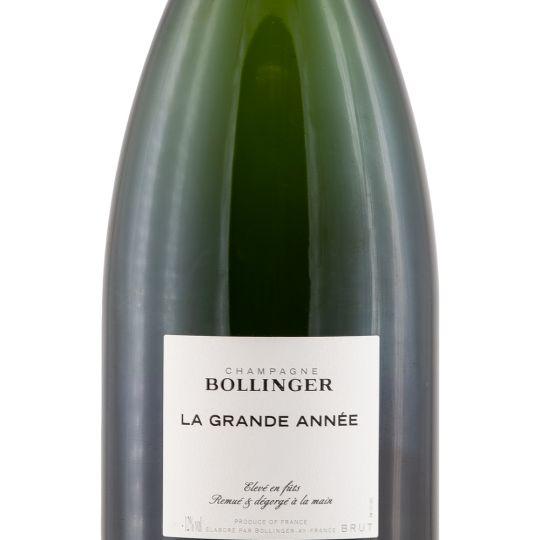 Personalised Bollinger La Grande Annee Vintage Champagne 75cl engraved bottle