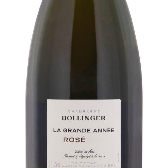 Personalised Bollinger La Grande Annee Vintage Rose Champagne 75cl engraved bottle