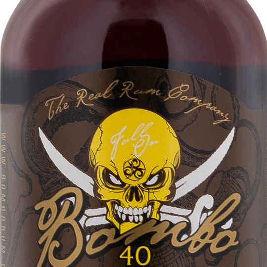 Personalised Bombo 40 Caramel & Banana Spiced Rum 70cl Engraved Liqueurs engraved bottle