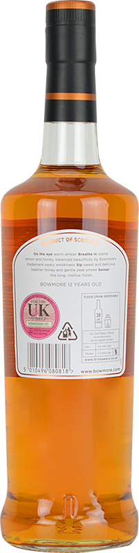 Personalised Bowmore 12 Year Old Whisky 70cl engraved bottle