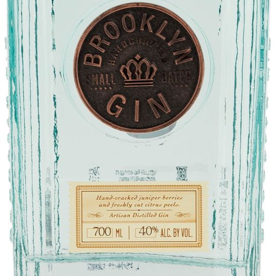 Personalised Brooklyn Gin 70cl Engraved Gin engraved bottle