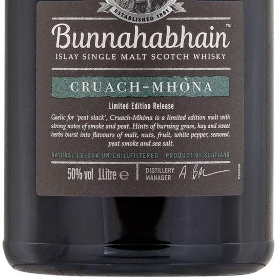 Personalised Bunnahabhain Cruach-Mhona 100cl Engraved Single Malt Whisky engraved bottle