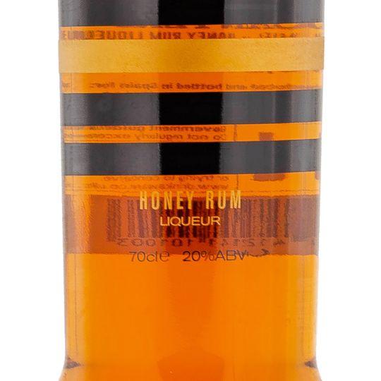 Personalised Canyero Ron Miel Honey Rum Liqueur 70cl Engraved Golden Rum engraved bottle