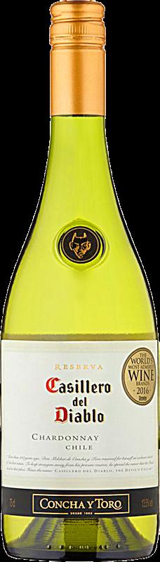 Personalised Casillero del Diablo Reserva Chardonnay Wine 75cl engraved bottle