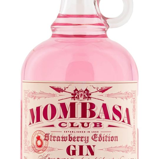 Personalised Mombasa Club Strawberry Edition 70cl Engraved Flavoured Gin engraved bottle