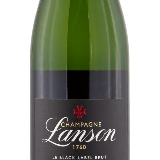 Personalised Lanson Black Label Champagne 75cl engraved bottle