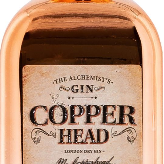 Personalised Copperhead Gin 50cl engraved bottle