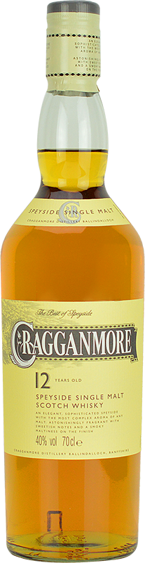 Personalised Cragganmore 12 Year Old Whisky 70cl engraved bottle