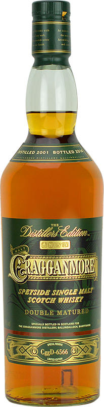 Personalised Cragganmore Distillers Edition Whisky 70cl engraved bottle