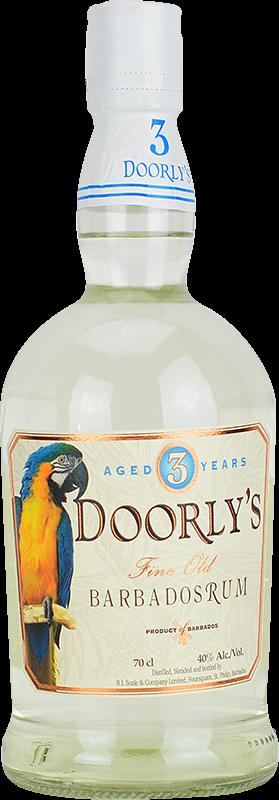 Personalised Doorlys 3 Year Old White Rum 70cl engraved bottle