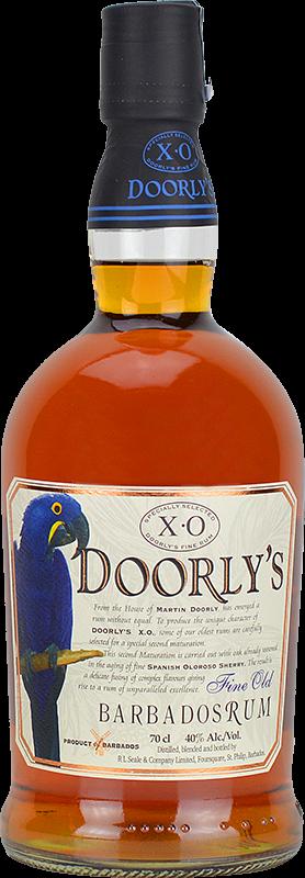Personalised Doorlys XO Rum 70cl engraved bottle
