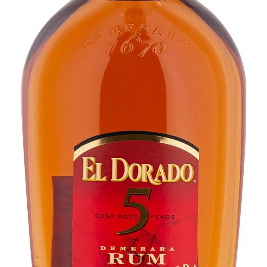 Personalised El Dorado 5 Year Old 70cl Engraved Golden Rum engraved bottle