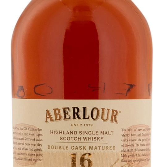 Personalised Aberlour 16 Year Old Double Cask 70cl Engraved Single Malt Whisky engraved bottle