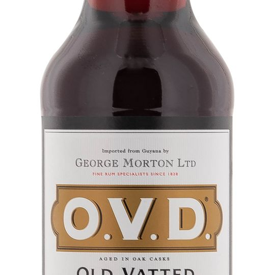 Personalised OVD Old Vatted Demerara Rum 70cl Engraved Dark Rum engraved bottle