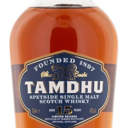 Personalised Tamdhu 15 Year Old Sherry Cask Speyside 70cl Engraved Single Malt Whisky engraved bottle