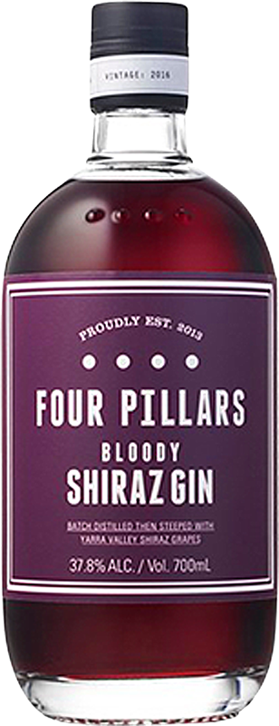 Personalised Four Pillars Bloody Shiraz Gin 70cl engraved bottle