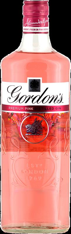 Personalised Gordons Pink Gin engraved bottle