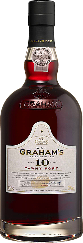Personalised Graham's 10 Year Old Tawny Port 75cl engraved bottle